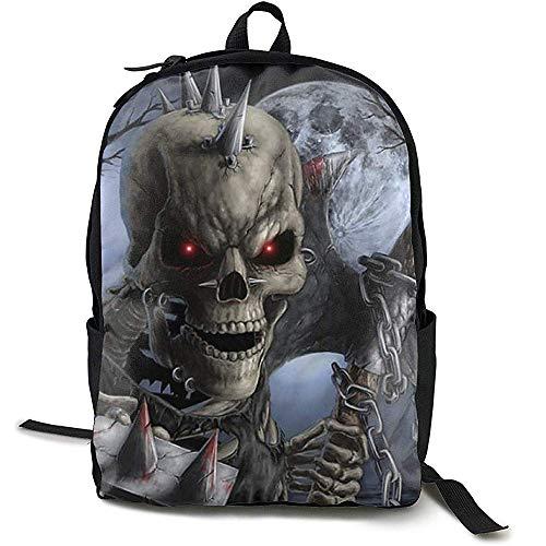 Rucksäcke,Reiserucksack Große Wickeltasche - Halloween Scary Horror Skeleton Skull Rucksack Schulrucksack Für Frauen \U0026 Männer