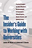 The Insider's Guide to Working with Universities: Practical Insights for Board Members, Businesspeople, Entrepreneurs, Philanthropists, Alumni, Parents, and Administrators