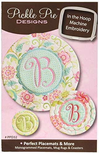 CD Perfect Placemats and More in The Hoop Machine Embroidery CD by Pickle Pie Designs PPD32