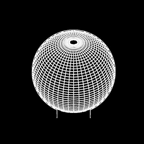 Luz de noche 3D LED Luz de noche esférica 3D Lámpara de mesa con forma de linterna redonda abstracta 7 variaciones de color de lámparas para el hogar y regalos para niños