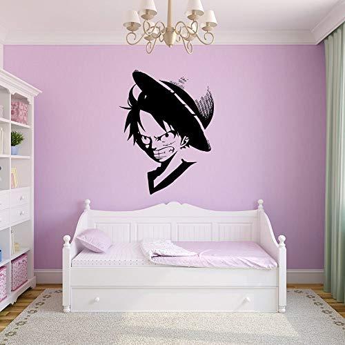 Película de dibujos animados anime enojado pirata Luffy artista de la pared dormitorio y decoración de la habitación del hotel habitación de los niños sala de juegos regalo niño sala de estar 65x84cm
