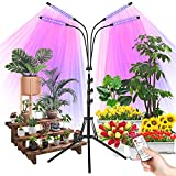 Grow Light with Stand, Plant Light for Indoor Plants, LED Grow Lamp Succulent Plant Lights Full Spectrum Remote Control Adjustable Timer Seedlings Floor Heat Lamp for All Growth Stages