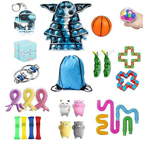 Sensory Fidget Toy Pack,Relieves Stress and Anxiety Fidget Packs for Kids Adults, Autistic ADHD,Dimple Toy for Classroom Reward,Birthday,Carnival(25 Pcs)