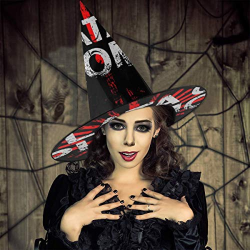 NUJIFGYTCRD Narcos Plata O Plomo Pablo Escobar Sombrero de Bruja Halloween Unisex Disfraz para da Festivo Halloween Navidad Carnaval Fiesta