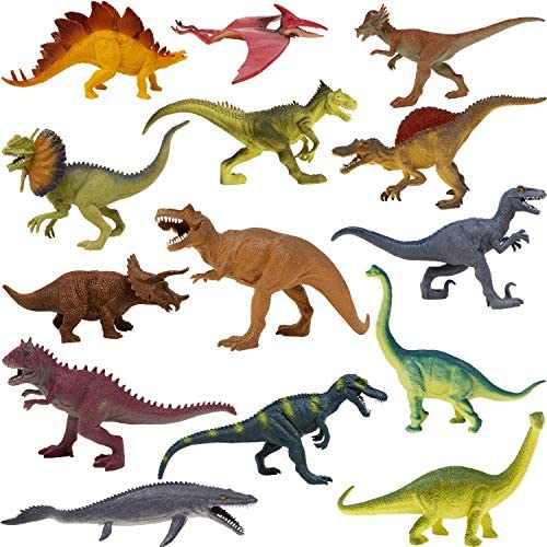 Boley 14 Pack Dinosaur Toys for Kids with Educational Dinosaur Figures for Boys and Girls Ages product image