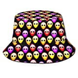 XBYC Unisex Bucket Hat Fashion Aliens Among Us UV Packable Fisherman Cap Black