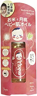 Happiness Natural Rice Baby Oil, 80 milliliters