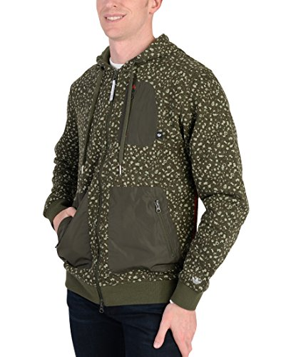 adidas Mens Originals Adventure Camo Spot Hoodie Army Green XXL
