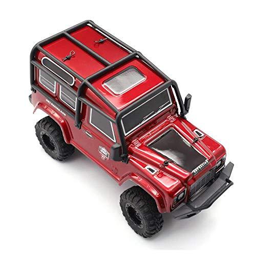 DishyKooker RGT 136240 V2 1/24 2.4G RC Auto 4WD 15KM / H Fahrzeug RC Rock Crawler Offroad Grau 3 Batterien