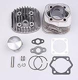 BH-Motor 47MM Cylinder Piston Gasket Pin Ring Kit for 2 stroke 80cc Motorized Bicycle Bike Engine Motor