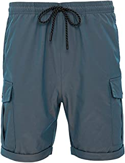 LBL Men's Shorts Outdoor Casual Expandable Waist Lightweight Water Resistant Hiking Shorts