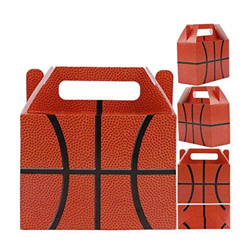 Basketball Party Favor for Kids, 16Pcs Gift Treat Bags for Basketball Theme Party Supplies, Goodies Box Perfect for Kids Girl Boy Child, Carnival Holiday Classroom Prize