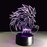 3D Led Illusion Light Statuette Dragon Ball Super...