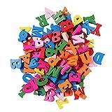 ULTNICE Lettere Alfabeto in Legno Colorato Lettere da parete decorazione 100 pezzi
