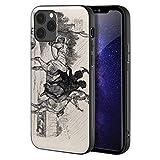 Berkin Arts Edwin Henry Landseer Paral iPhone 12 Pro MAX/Caja del teléfono Celular de Arte/Impresión Giclee UV en la Cubierta del móvil(Due Giovani camini spazza su Un Cavallo)