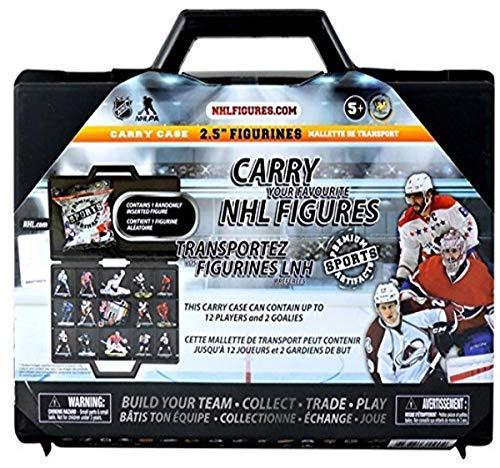 NHL League Logo All Teams Boys 2.5' Figure Carry Case Includes 1 Mystery Figure!, One Size, Black