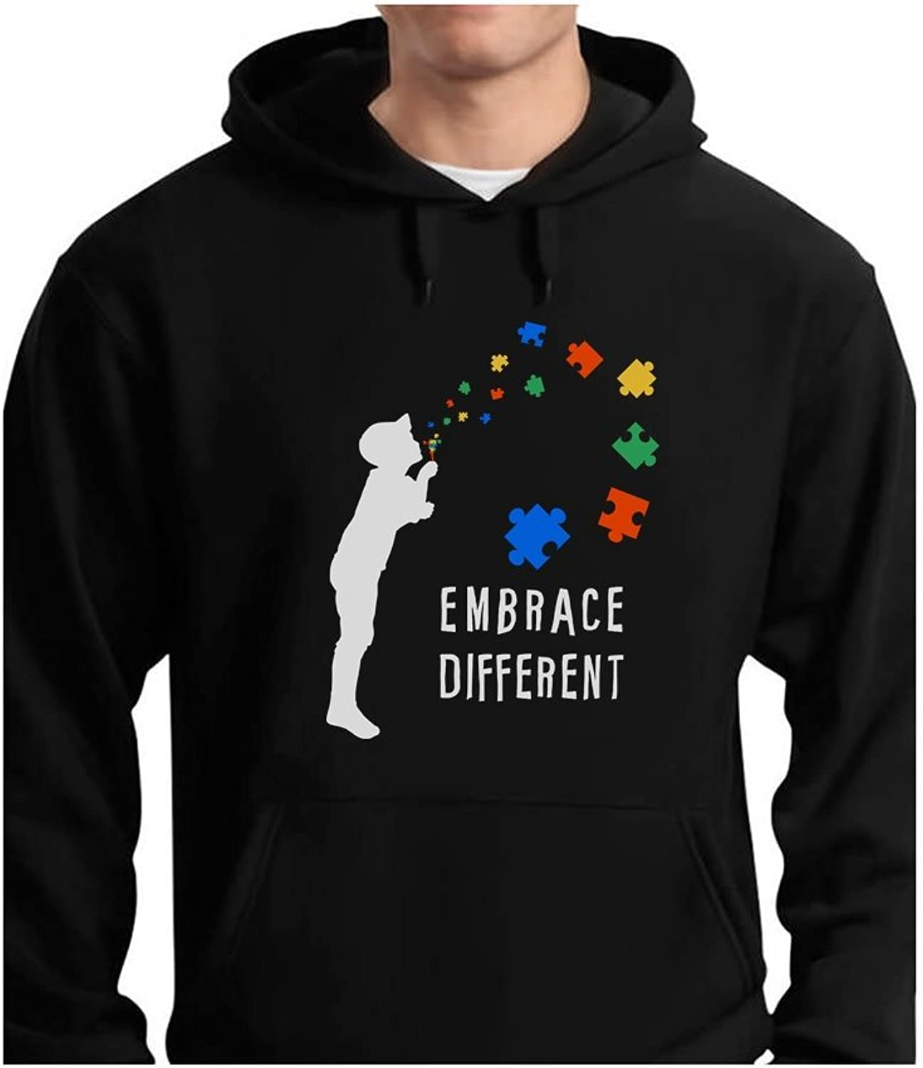 - Tstars - Embrace Different Different Different - Autism Awareness Hoodie d4ee6a