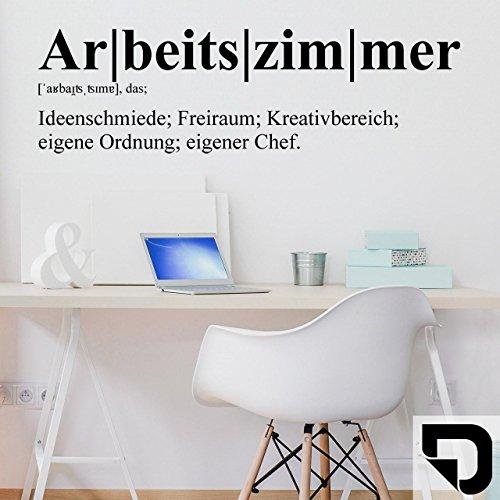 DESIGNSCAPE® Wandtattoo Arbeitszimmer Definition 76 x 22 cm (Breite x Höhe) schwarz DW803274-S-F4