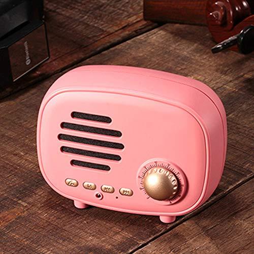Drahtlose Bluetooth-Lautsprecher-FM-Radio Bluetooth 4.1 Build-Mikrofon TF Handfree Smart-Lautsprecher Niedliche Kleine Stereo-Subwoofer,D