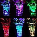 Uonlytech Luz LED de baño multicolor para piscina, resistente al agua, para peces, acuario, decoración del hogar