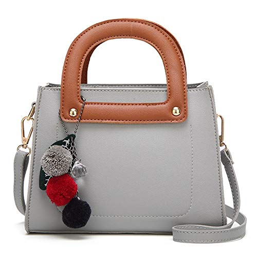 Simple Small Square Bag Women Bag Fashion One Shoulder LightGray.