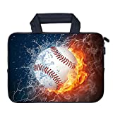 AMARY 11.6' 12.1' 12.5' Laptop Sleeve Neoprene Notebook Laptop case Chromebook Sleeve Ultrabook Case Tablet Cover Fit Apple MacBook Air HP DELL Lenovo Asus Samsung (Baseball)