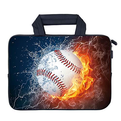 AMARY 11.6 12.1 12.5 Laptop Sleeve Neoprene Notebook Laptop case Chromebook Sleeve Ultrabook Case Tablet Cover Fit Apple MacBook Air HP DELL Lenovo Asus Samsung (Baseball)