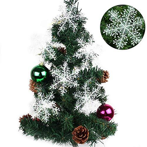 YiyiLai Flocon de Neige Décoration de Arbre Ornement Noël Ornement 10 Sacs
