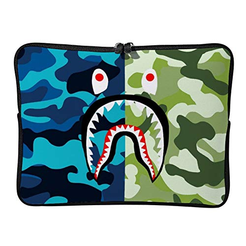 AmaUncle Ba-pe Blood Shark NNO 3 Laptop Sleeve Case Water-Resistant Protective Cover Portable Computer Carrying Bag Pouch for Laptop 13 inch/13.3 inch