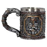 Taza De Copa De Vino 3D, Casco De Vikingo Taza De Café Jarra De Cerveza Jarra para Hombres Taza De Acero Inoxidable Viking Drinking Horn Bar Cup para El Hogar/Fiesta/Bar