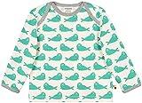 loud + proud Shirt Druck Aus Bio Baumwolle, Gots Zertifiziert Camisa Manga Larga, Verde (Jade Jad), 104 (Talla del Fabricante: 98/104) para Niños