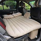 STAZSX Auto aufblasbare Bett Auto liefert Matratze hintere Reihe Reisebett Auto innen und Rücksitz SUV Isomatte Luftbett @ 135 * 88cm_ beige