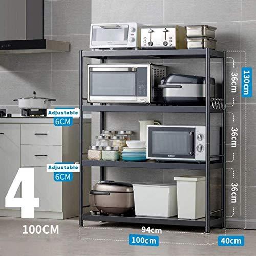 Multifunción Microondas simple rejilla del horno de la cocina for guardar Organizador encimera Soportes for cocinas Vajilla Estante de almacenamiento Negro duradero LINGZHIGAN (Size : Style 6)