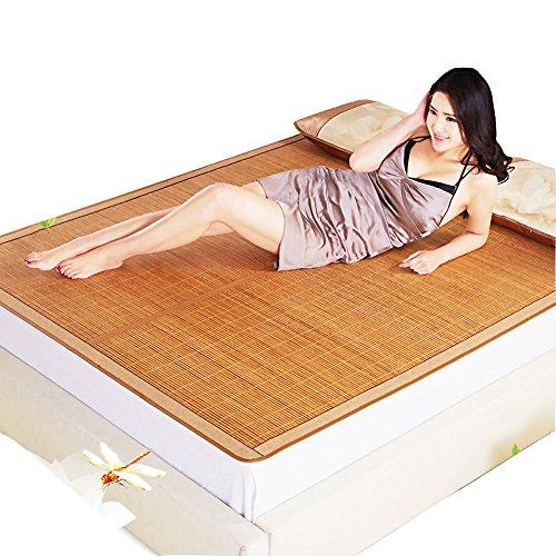 Summer Sleeping mat, 3-Piece Bamboo mat King mat Double-Sided Folding Air Conditioning mat Queen-A 90x190cm(35x75inch)