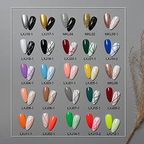 Elija 10 colores, Esmaltes Gel Semipermanentes Delineadores Lápizes para Uñas UV LED para Dibujos de Uñas Pinturas Set Arte de Uñas 3D Nail Art Diseño de Uñas Tirar Líneas para Salón