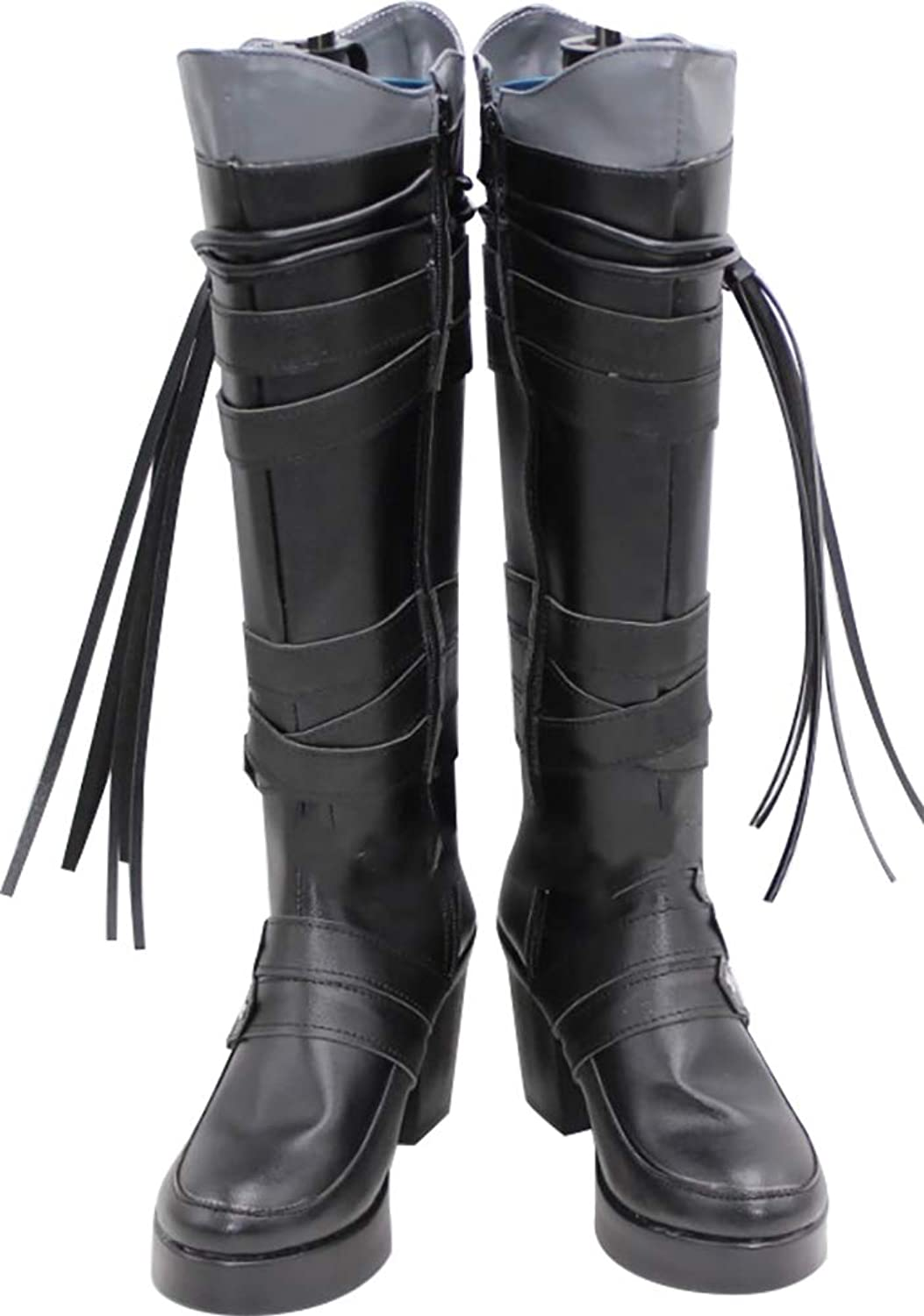 Whirl Cosplay Boots shoes for Final Fantasy 15 Iris Amicitia Black