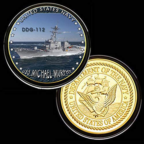 U.S. United States Navy | USS Michael Murphy DDG-112 | Gold Plated Challenge Coin