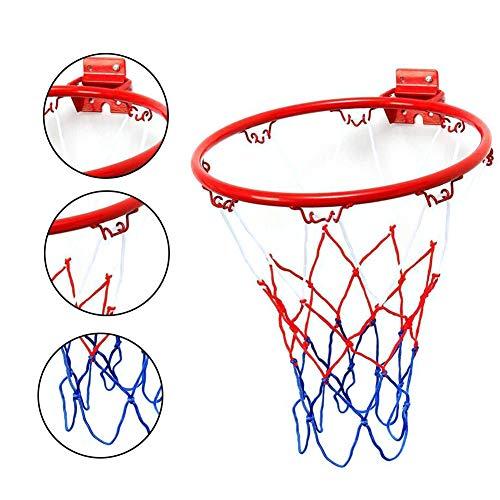 æ— 25cm Hanging Basketball Wall Mounted Goal Hoop Rim Net Sports Netting Mini Basketball Hoop Set for Kids Indoor Outdoor Toy
