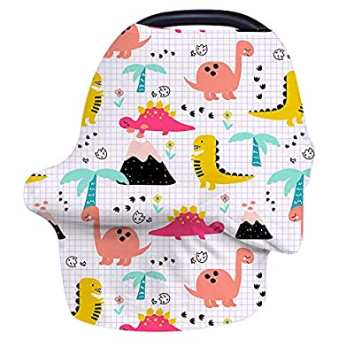 Nursing Cover Breastfeeding Cover, Baby Car Seat Covers, Soft Stretchy Infant Carseat Canopy, Shopping Cart/High Chair/Stroller Canopies, Mom Infinity Scarf/Shawl, Perfect Baby Shower Gifts Boys Girls