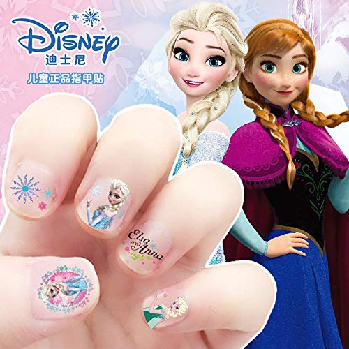 5 Pcs Kids Frozen Elsa And Anna Makeup Nail Stickers Disney Snow White Princess Sophia Mickey Minnie Toys Beauty Nail Supplies