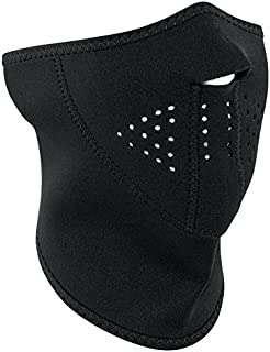 Zanheadgear 3-Panel Neoprene Half Face Mask, Black