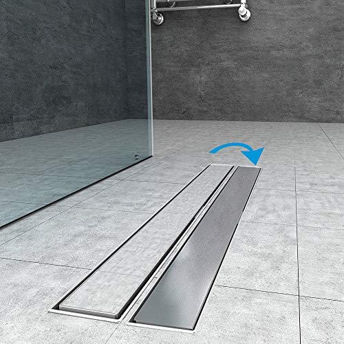 Duschrinne 70cm edelstahl Bodenablauf Ablaufrinne Duschablauf Randablauf Boden Ablauf Rinne Badezimmer Bad Länge