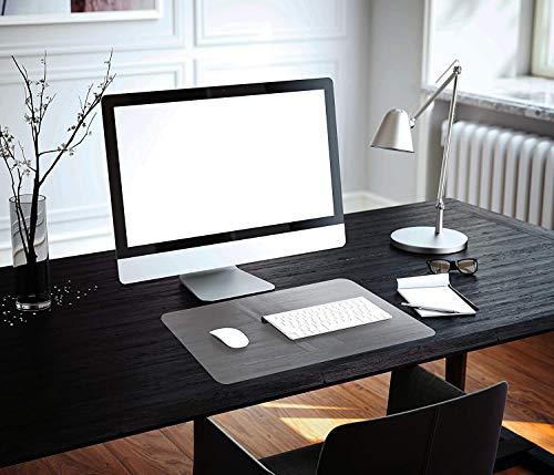 Vade de escritorio transparente, 70 x 35 cm, alfombrilla de escritorio transparente