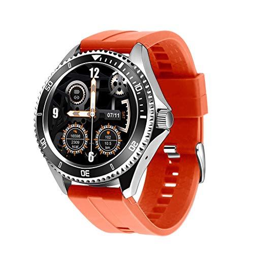 ZXQZ Relojes de Pulsera Relojes Moda Impermeable Deportes Cronógrafo Analógico, Reloj de Pulsera de Cuero con Esfera de Acero Inoxidable, Mejor Regalo para Hombre Watches (Color : Red)