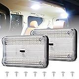 Luces de techo interiores de coche 12V 36 LED Techo de vehículo de coche Lámpara de iluminación LED Luz de lectura de domo de coche para coche Camper Van Caravan Barco Luz de techo Autocaravana