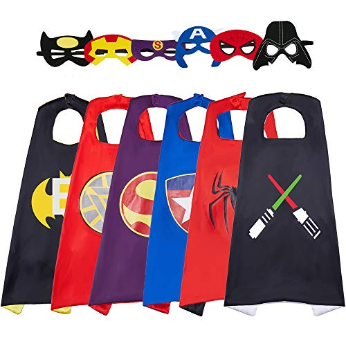 Totteri Superhero Capes and Masks for Kids Dress Up Costumes,Fun Cartoon Party Favor Cosplay Toy - Best Gifts Birthday