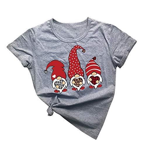 BUDAA Camiseta estampada de manga corta para hombre y mujer casual camiseta superior personalizada casual corta camiseta casual suelta manga corta camisa verano tops