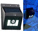 Lunartec Solar Aussenleuchte: Solar-LED-Wandleuchte mit Bewegungsmelder, Dimm-Funktion, 180 lm, IP44 (LED-Solar-Leuchten PIR)