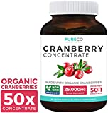 Best Cranberry Pills - Organic Cranberry Pills - 50:1 Concentrate Equals 25,000mg Review
