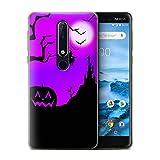 Stuff4 Phone Case for Nokia 6 2018 (6.1) Halloween Scene